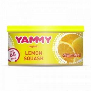 """Ароматизатор с растит. наполнителем """"Yammy"""", Органик, баночка """"Lemon Squash"""" 42 гр."""