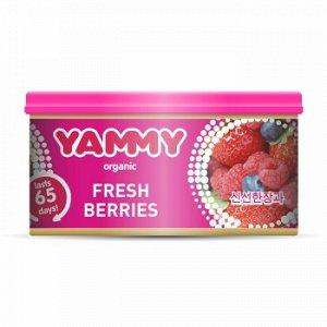 "Ароматизатор с растит. наполнителем ""Yammy"", Органик, баночка ""Fresh Berries"" 42 гр."