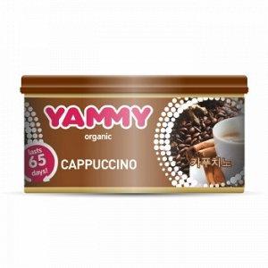 "Ароматизатор с растит. наполнителем ""Yammy"", Органик, баночка ""Cappuccino"" 42 гр."