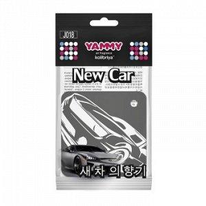 """Ароматизатор подвес. """"Yammy"""" картон с пропиткой Квадрат """"New Car"""""""