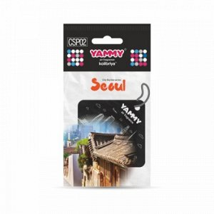 """Ароматизатор подвес. сити """"Yammy"""" картон с пропиткой Квадрат """"Seoul"""" (1/200)"""