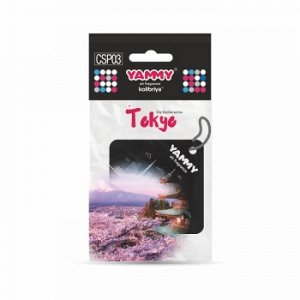 "Ароматизатор подвес. сити ""Yammy"" картон с пропиткой Квадрат ""Tokyo"" (1/200)"