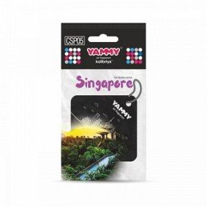 "Ароматизатор подвес. сити ""Yammy"" картон с пропиткой Квадрат ""Singapore"""