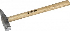 ЗУБР 300 г молоток слесарный с деревянной рукояткой