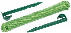 Набор GRINDA разметочный для посадки семян: веревка разметочная