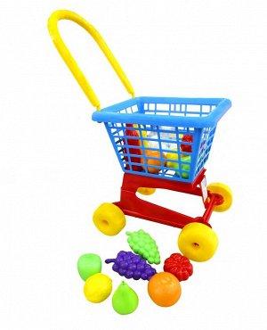 Тележка Supermarket №1 + набор продуктов (в сеточке)