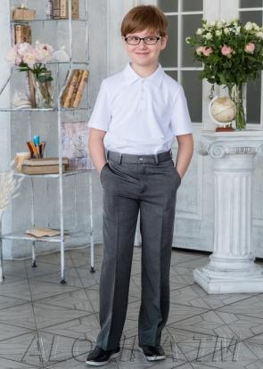 Школьные брюки, серый