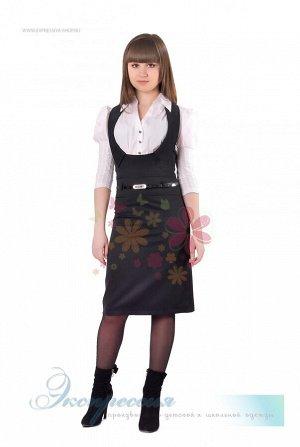 Школьный сарафан для девочки 184-11