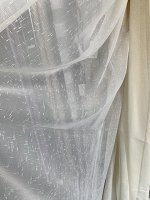 Лен Lamella TC 2DX1218-1 белоснежныйс утяжелителем  5 метра (ткань Турция Luxe)