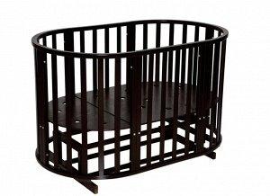 """Детская кровать """"Sofia""""(2) 6 в1 универсальный маятник, колесо (шоколад) 99434"""