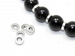 Разделители Шайбочки серебристые. 6 мм. Цена за 1 шт.