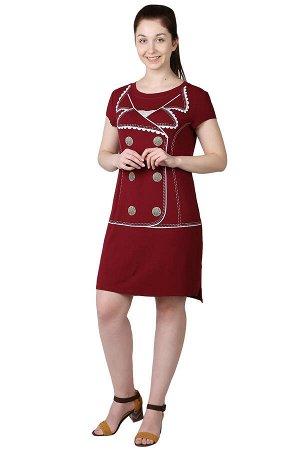 Платье Жакет Цвет: Бордо. Производитель: Оптима Трикотаж