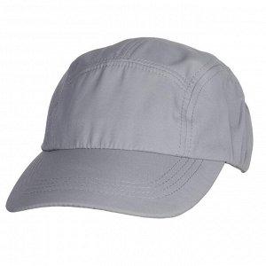 Светло-серая кепка-пятиклинка №124