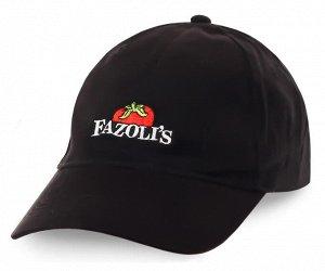 Фирменная бейсболка итальянского ресторана Fazolis - насыщенный цвет, узнаваемый логотип, приятная цена №247 ОСТАТКИ СЛАДКИ!!!!