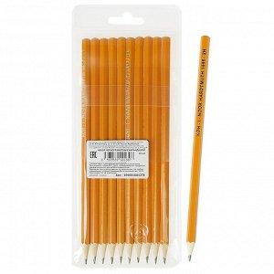 Набор чернографитных карандашей 10 штук, Koh-I-Noor 1696, разной твердости, 2H-2B, L=175 мм