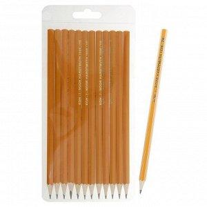 Набор карандашей чернографитных разной твердости 12 штук Koh-i-Noor 1696, 2H-2B