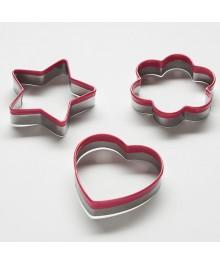 Кулинарные формы набор для печенья Webber  BE-4420/3 3 шт сердце/цветок/звезда 6х6х1,5см (144)