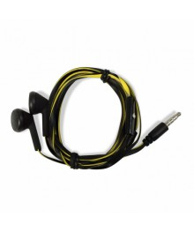 "Наушн CBR Human Friends Travel Sound ""Acid"" Black with yellow cable c микрофоном"