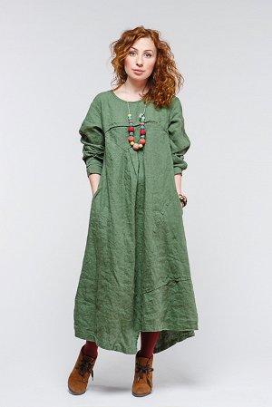 Шикарное платье Бохо Натуральный Лен