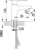 """LM3606C """"Базис"""" Смеситель для умывальника монолитный, хром"""