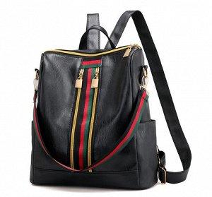 Рюкзак из эко.кожи,чёрный