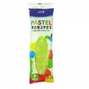 Перчатки из натурального латекса «Pastel» салатовые размер S, 1 пара