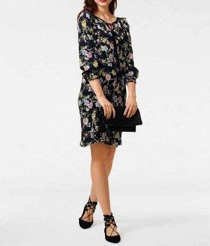 Платье, черно-пестрое
