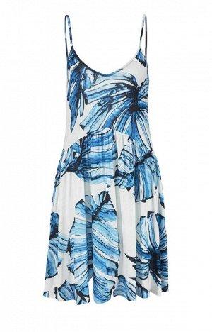 Платье, сине-белое