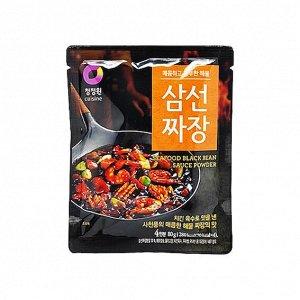 Основа для приготовления соуса из черных соевых бобов, вкус морепродуктов «Seafood black bean sauce powder» 80 г