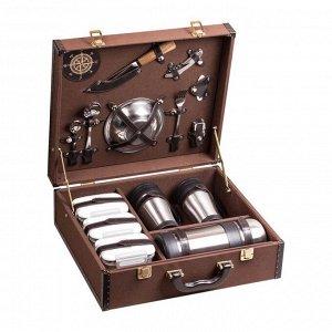 Набор посуды для поездок «Авто-Комфорт цветной коричневый» (2 персоны)