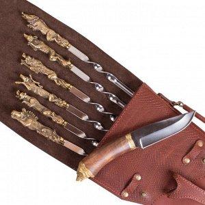 Шампурница подарочная «Чехол ружья - Медведь»
