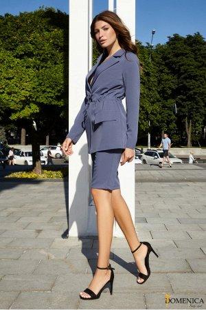 Костюм с длинными шортами и пиджаком - Р 2508 Сиреневый