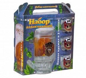Подарочный набор для спиртного «Морская пехота» – недвусмысленное сочетание кружки для пива и стопок для водки