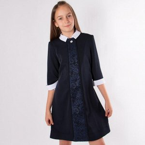 Платье Соль&Перец Василиса для девочки/Цвет: темно-синий