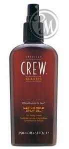 American crew classic medium hold spray gel спрей-гель для волос средней фиксации 250мл габ