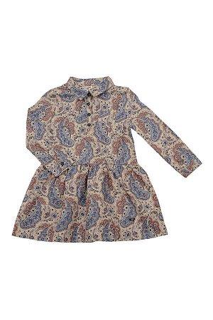 Платье (92-116см) UD 3782(1)бежев.узоры