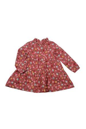 Платье в цветочек (98-122см) UD 2615(2)розовый