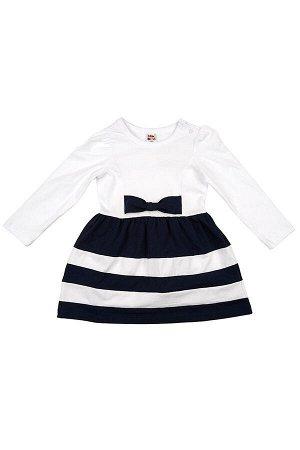 Платье с дл.рукавом (80-92см) UD 0746(2)белый