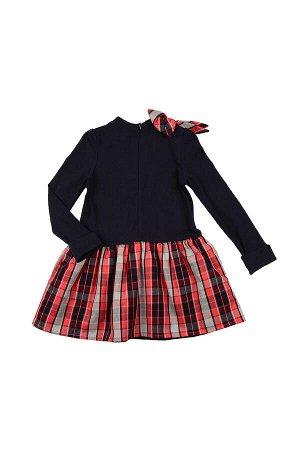 Платье (98-122см) UD 4835(1)син/крас