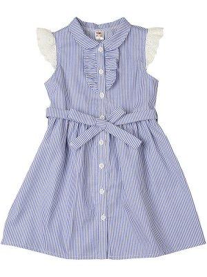 Платье в полоску (98-122см) UD 4563(6)син.полоса