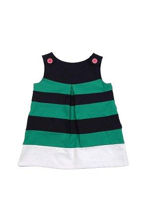 Платье в полоску (92-116см) UD 1344 зеленый