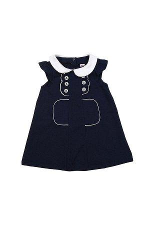 Платье с пуговицами (92-116см) UD 1349 синий