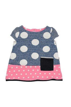Платье комбинированное (98-116см) UD 1341(2)син/розов