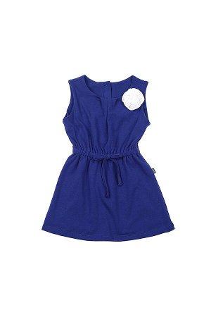 Платье с белой розой(92-116см) UD 2954(1)синий