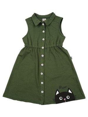 Платье (98-122см) UD 4627(5)хаки-зеленый