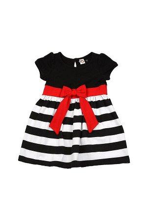 Платье с полосой (92-116см) UD 1557(1)черн/крас