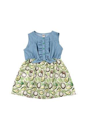 Платье (98-122см) UD 6420(1)авокадо