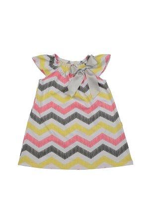 *Платье с бантиком (92-116см) UD 1961 волна