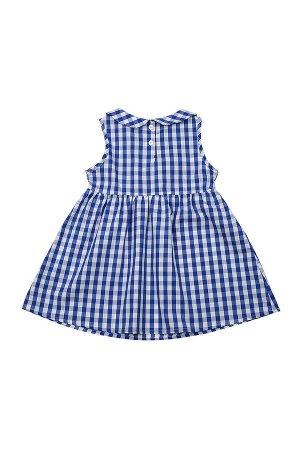 Платье в клетку (92-116см) UD 3288(2)синий