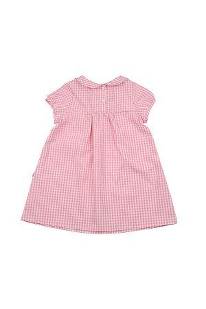 Платье в мелк клеточку (92-116см) UD 3260(2)розовый